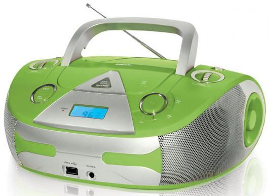 Магнитола BBK BX325U зелено-серебристый