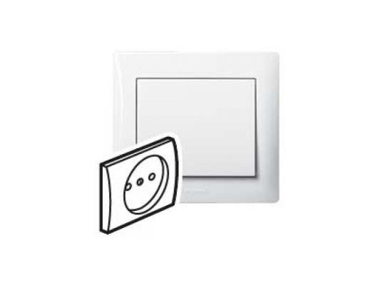 Лицевая панель Legrand Galea Life для розетки 2К+З жемчуг 771520 legrand legrand galea life бел клавиша 2 ая c точечной подсветкой 771079