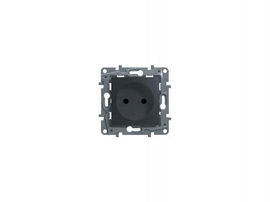 Розетка электрическая Legrand Etika 2К+З со шторками автоматические зажимы 16А/250В антрацит 672631 от 123.ru