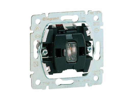 Выключатель с подсветкой Legrand Galea Life 10АХ/250В с зеленой лампой 0,5мA 775600