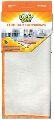 Салфетки из микрофибры Белая жел.кант 40х40 Lucky Bee LB 7205