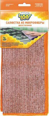Салфетки из микрофибры двухсторонние 40х40 Lucky Bee LB 7207
