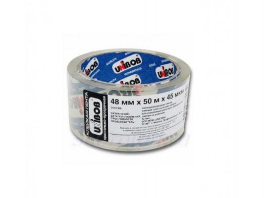 Клейкая лента упаковочная Unibob 48ммx45м 102-0400/1 от 123.ru