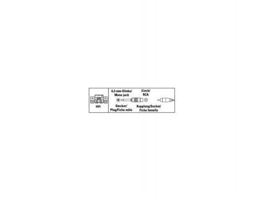 Адаптер Hama Jack 6.3(m)-RCA(f) моно 00122377