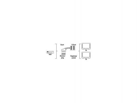 Адаптер Hama Splitter 2-way SCART(M)-2SCART(F) 0.5м черный 122225