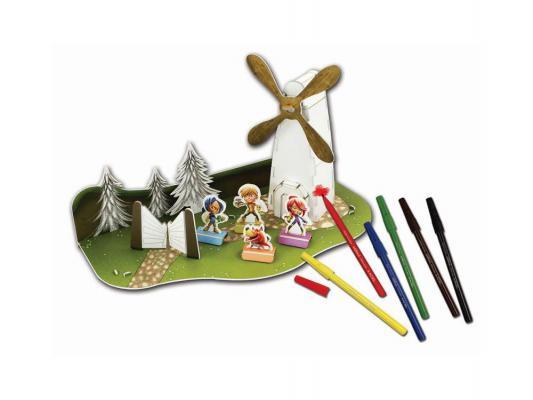 Набор для детского творчества Adel ADELAND 3D пазл Мельница 6 фломастеров 434-5444-000