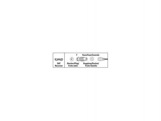 Адаптер антенный Hama Coax (f)-F(m) 00122486