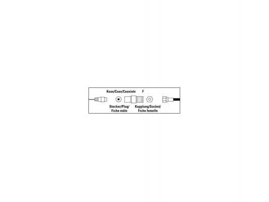 Адаптер антенный Hama Coax (m)-F(f) 00122487