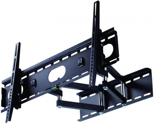 """Кронштейн Rolsen RWM-250 черный для ЖК ТВ 10-37"""" настенный от стены 70мм наклон 15° до 56кг"""