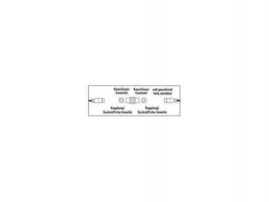 Адаптер антенный Hama Coax (f)-F(f) 00122488