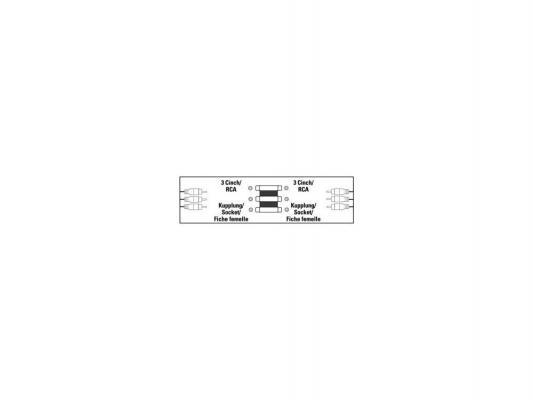 Адаптер Hama 00122249 3xRCA(F)-3xRCA(F) черный 122249