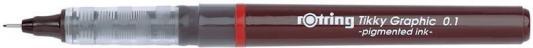 Набор капиллярных ручек Rotring Tikky Graphic 3 шт черный S0814871 1904780 толщина 0.1/0.3/0.5мм touch набор капиллярных ручек liner цвет чернил черный 7 шт