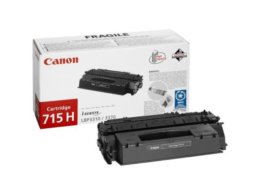 Картридж Canon 715H для i-SENSYS LBP-3310/3370 чёрный 7000стр transfer belt cleaning blade for canon lbp 9100 9500 9600 for hp cp5225 cp5525 cp5220 cp5520 m750 m755 ce979a ce516a ce710 69003