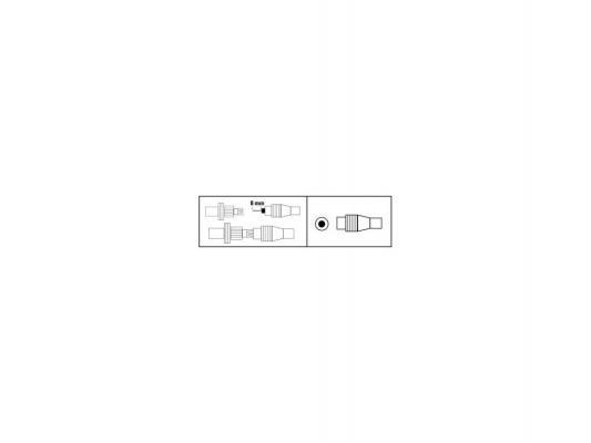 Штекер антенный Hama H-44147 коаксиальный (m) 5-7мм белый