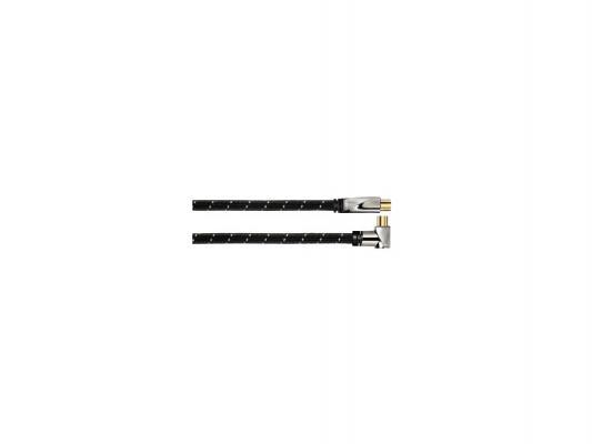 Кабель антенный Avinity H-107648 позолоченные контакты Coax(m)-Coax(f) 100дБ 3м черный