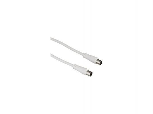 Кабель антенный Hama H-122406 коаксиальный Coax(m)-Coax(f) 15м 90дБ белый