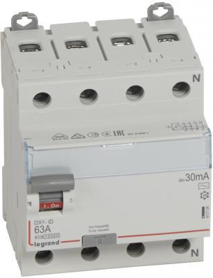 Выключатель дифференциального тока Legrand DX ID 4П 400В/63 А тип AC 30мА 411704