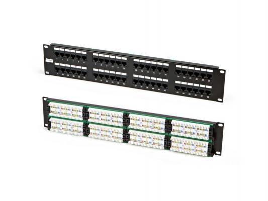 """Патч-панель Hyperline PP2-19-48-8P8C-C5e-110D 19"""", 2U, 48 портов RJ-45, категория 5e, Dual IDC"""