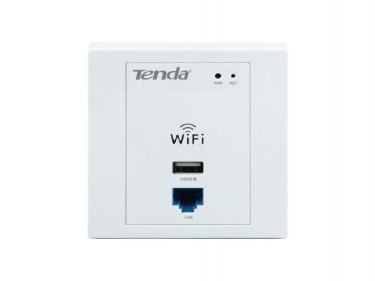 Маршрутизатор Tenda W310A 802.11bgn 300Mbps 2.4 ГГц 2xLAN USB USB белый