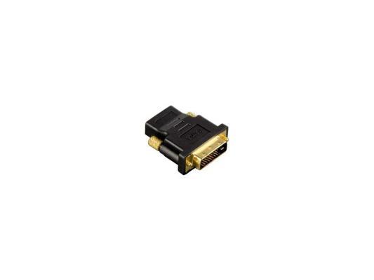 Переходник HDMI (f) - DVI/D (m) Hama позолоченные штекеры черный H-034035 переходник ningbo hdmi m dvi d f позолоченные контакты черный cab nin hdmi m dvi d f
