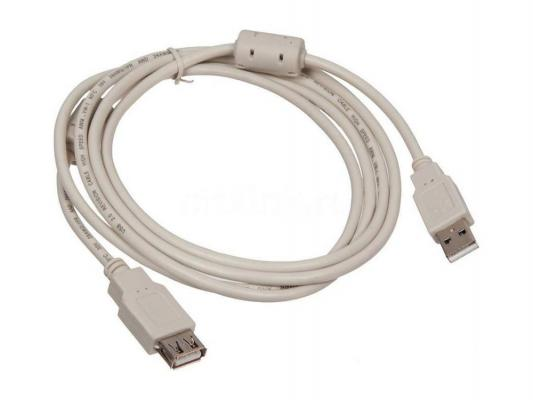 Кабель удлинительный USB 2.0 AM-AF 1.8м Buro ферритовые кольца USB2.0-AM-AF-1.8M-MG