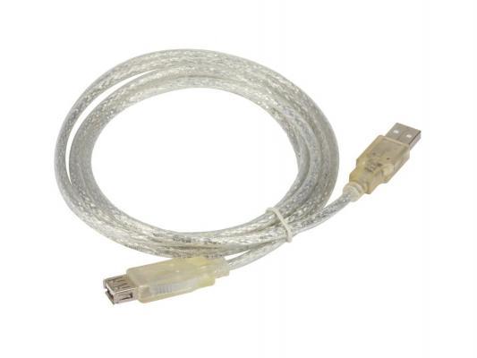 Кабель удлинительный USB 2.0 AM-AF Buro позолоченные контакты прозрачный USB2.0-AM-AF-S стоимость