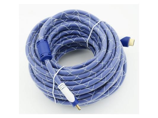 Кабель HDMI 15.0м Gembird Ver.1.4 Blue/white jack ферритовые кольца позолоченные контакты 794320 шлем tech team plasma 550 m blue white