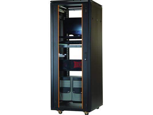 """Шкаф напольный 19"""" 42U Estap Universal Line JUMBO CKR42U88GF1R3 800x800mm передняя дверь двустворчатое стекло с металлической рамой слева и справа задняя дверь двустворчатая металлическая с щеточными кабельными вводами серый"""
