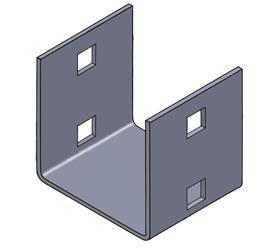 Комплект для соединения Estap M44BLG01 для шкафов ServerMAX и Universal Line серый