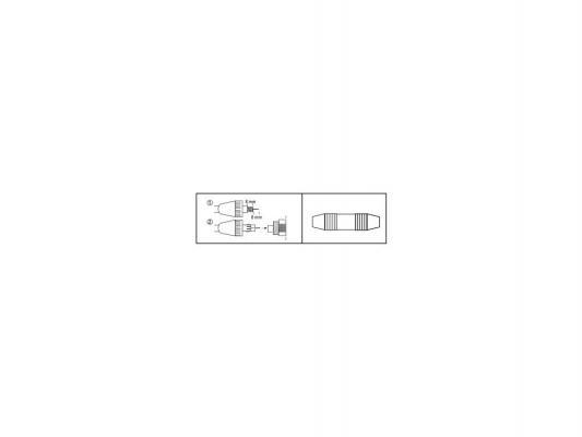 Адаптер Hama H-42849 для соединения коаксиального антенного кабеля обжимной белый
