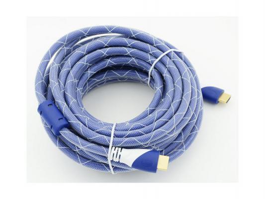 Кабель HDMI 10.0м Gembird Ver.1.4 Blue/white ферритовые кольца позолоченные контакты 794319 кабель hdmi 15 0м gembird ver 1 4 blue white jack ферритовые кольца позолоченные контакты 794320
