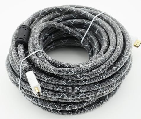 Кабель HDMI 20.0м Gembird/ВЕНРЕХ Ver.1.4 Black jack ферритовые кольца позолоченные контакты 794337 кабель hdmi 3 0м gembird ver 1 4 blue jack ферритовые кольца позолоченные контакты