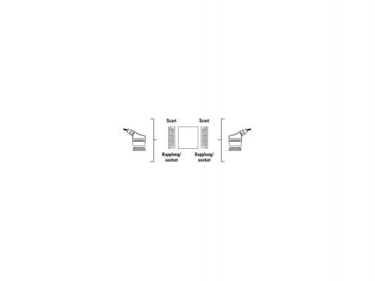 Адаптер Hama SCART(F)-SCART(F) черный 122243