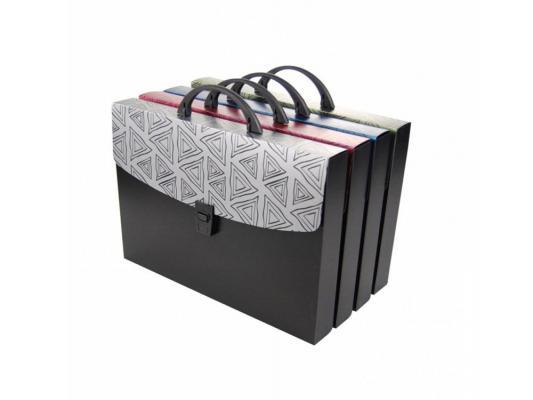 Портфель Бюрократ BERMUDAS BERPP01 1 отделение с ручкой и замком А4 пластик 0.7мм ассорти