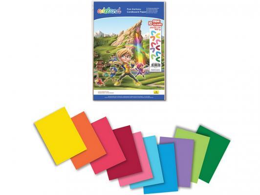 Набор цветного картона Adel 434-3030-000 от 3 лет 25х35см 10 цветов 10 листов