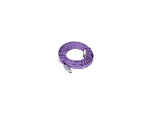 Кабель HDMI 3.0м Gembird Ver.1.4 FLAT Purple jack ферритовые кольца позолоченные контакты