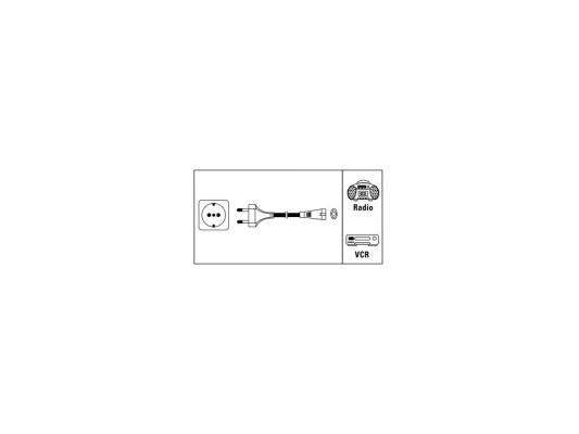 Кабель питания для бытовой электроники 1.5м Hama H-44225 черный кабель питания для бытовой электроники 1 8м vcom telecom tp228 iec320 c7 cee7 16 1 8 b черный