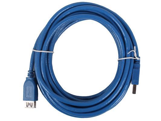 Кабель удлинительный USB 3.0 AM-AF 5.0м VCOM Telecom VUS7065-5M аксессуар 5bites usb 3 0 am micro 9pin 0 5m tc303 05