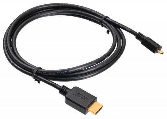 Кабель HDMI - microHDMI 1.8м Buro MICROHDMI-HDMI-1.8 черный 817227 кабель microhdmi hdmi 1 8 метра v1 4 belsis