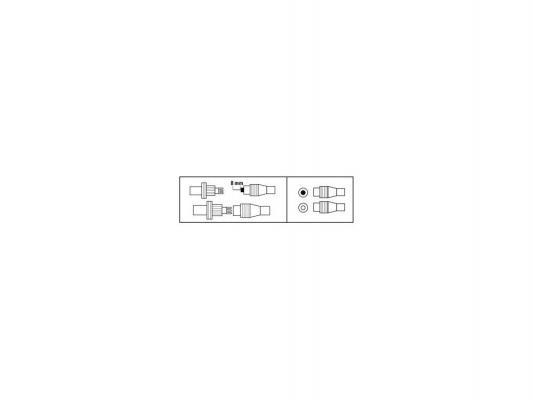 Набор штекеров Hama Coax(f)-Coax(m) винтовой 00122473