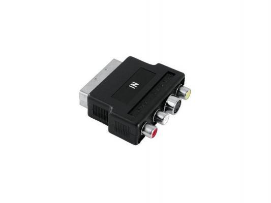 Адаптер Ningbo Scart (m)-S-video(f)+3xRCA(f) черный
