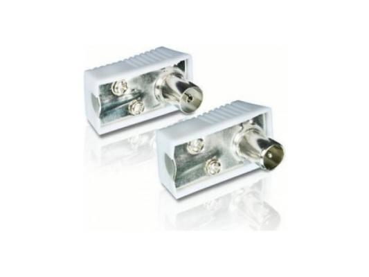 """Наконечники антенные Philips SWV2561W/10 PAL 9мм 1 """"папа"""" 1 """"мама"""" для антенного кабеля 9.52 мм 2шт"""