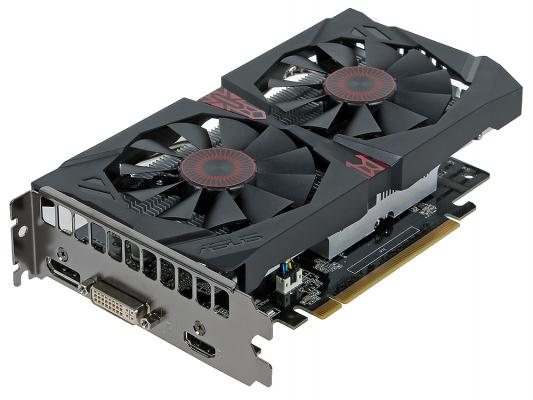 Видеокарта 2048Mb ASUS GeForce GTX750 Ti STRIX OC с CUDA PCI-E GDDR5 DVI HDMI DP Retail STRIX-GTX750