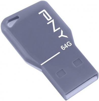 Флешка USB 64GB PNY Key Attache FDU64GBKEYGRY-EF серый