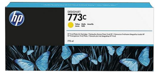 Картридж HP C1Q40A для DesignJet Z6600/Z6800 желтый 775мл free shipping q5669 60664 for hp designjet t610 t1100 z2100 z3100 z3200 vacuum fan aerosol fan assembly original used