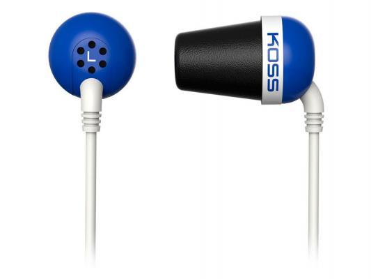 Наушники Koss The Plug синий наушники koss the plug blue