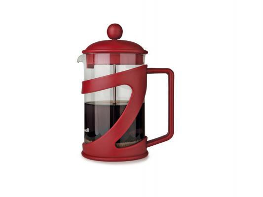 Френч-пресс Maxwell ML-706 красный 0.8 л пластик/стекло