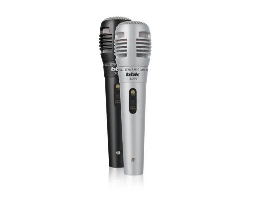 Микрофон BBK CM215 черный/серебристый