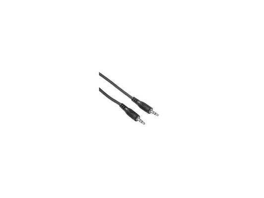 Кабель соединительный 5.0м Hama 3.5 Jack (M) - 3.5 Jack (M) стерео черный H-34053 адаптер hama 2x3 5 мм jack f 3 5 мм jack m стерео черный h 43353