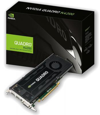 Видеокарта 3072Mb PNY Quadro K4200 PCI-E 192bit GDDR5 DVI 2xDP VCQK4200-PB Retail